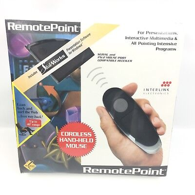 Interlink Remote Point Wireless Cordless Mouse Presentation Pointer Sealed #3648