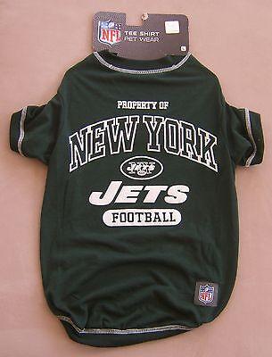 New York Jets Football Dog T Shirt Size L NFL Sports Halloween Costume Dress Pet