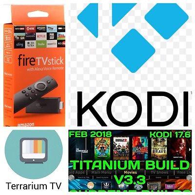 Amazon Fire TV Stick 2nd Gen  KODI 17.6 TV Quad Core -Alexa voice remote