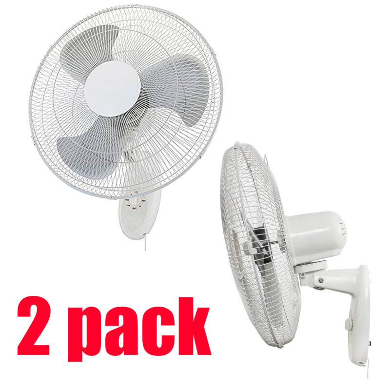 """2pk 18"""" Wall Mount Oscillating Hydroponic Fan for Air Circulation Cooling"""