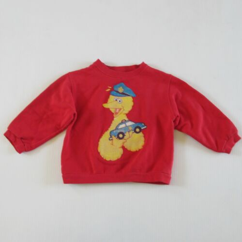 Vintage 90s Sesame Street Big Bird Jim Henson Toddler Fleece Sweatshirt 5T