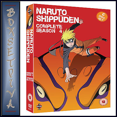 NARUTO SHIPPUDEN - COMPLETE SEASON 4 (EPISODES 154-192)  **BRAND NEW DVD ** for sale  Shipping to Canada