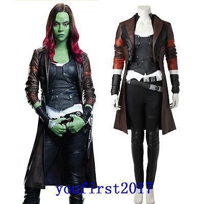 Marvel Guardians of the Galaxy Ⅱ Gamora Cosplay Kostüm Set Halloween Party NEU (Gamora Cosplay Kostüm)