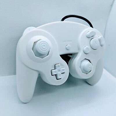 All White Gamecube Controller White Buttons