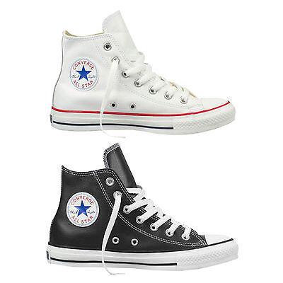 All Star Leder Hi Schuh (Converse Chuck Taylor All Star Hi Herren-Lederschuhe Sneaker Hi-Top Schuhe)