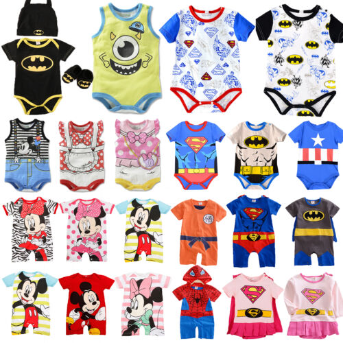 Newborn Baby Boys Girls Marvel Hero Cute Romper Jumpsuit Bod