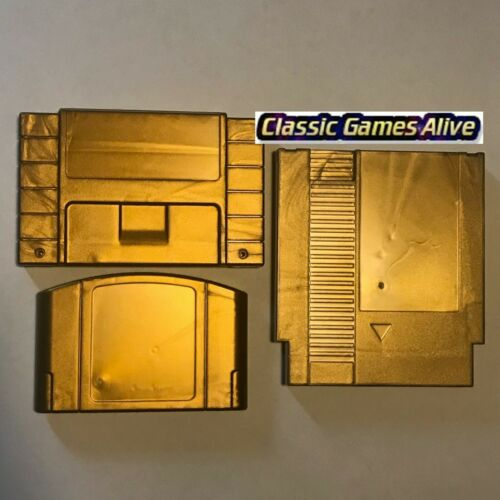 Zelda Gold Cart Shell for N64, SNES and NES replacement (Majora's Mask style)