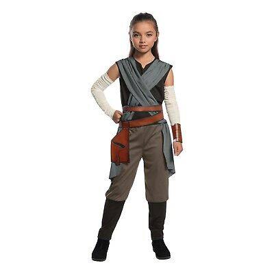 Girl's Disney Star Wars The Last Jedi Rey Costume Jumpsuit Child S M L](Jedi Child Costume)