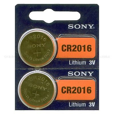 2 NEW SONY CR2016 3V Lithium Coin Battery Expire 2026 FRESHLY NEW - USA Seller