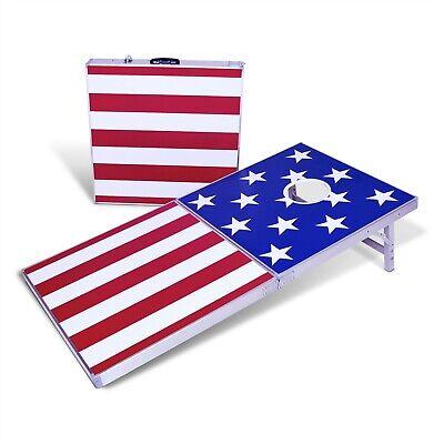 4x2 cornhole bag toss game american stars
