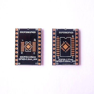 10 Pcs Qfn20 Sop Soic Ssop Tssop20 To Dip20 Adapter Pcb Board Converter Gold B75