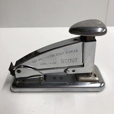 Vintage Ace Scout Stapling Machine Model No. 202 Made In Usa