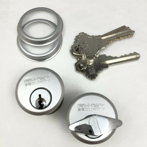 """Keyed and T-Turn Mortise Lock Cylinders 1"""" for Store Front Door Adams Rite Lock"""