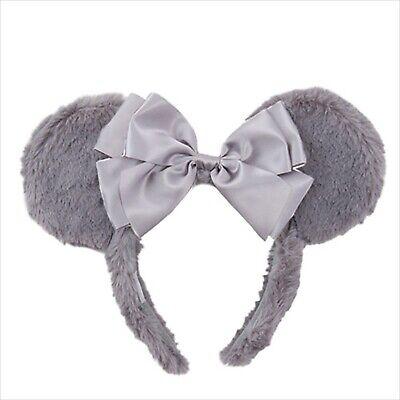 Christmas Minnie Mouse Costume (Tokyo Disney Resort Minnie Mouse Fluffy Gray Headband Christmas 2019 Costume)