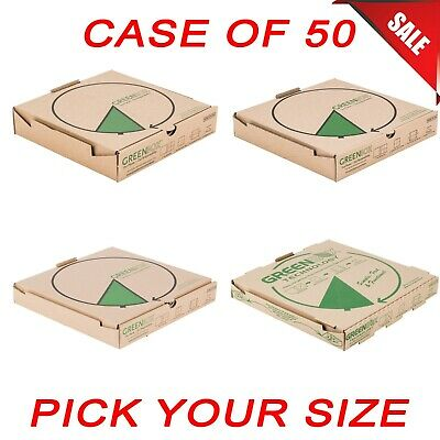 50 Case Pick Size Corrugated Pizza Box W Built-in Plates And Storage Container