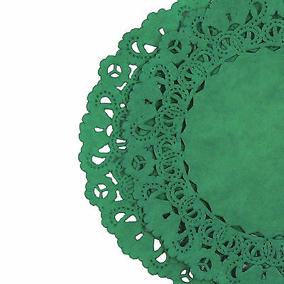 CHRISTMAS GREEN PAPER Lace DOILIES | 4