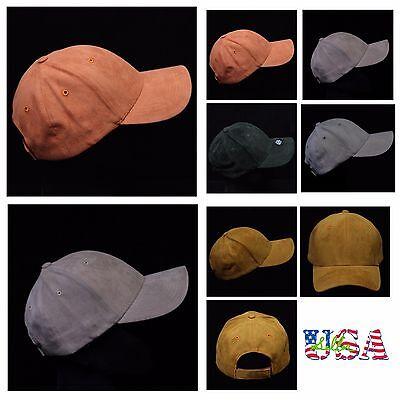 Baseball Cap Suede Camp Hat Plain Trucker Fashion Unisex Cotton Hats Solid Caps Cotton Suede Cap