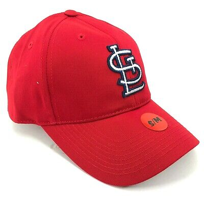 St. Louis Cardinals Outdoor Cap Adjustable Hat Curved Brim Red Outlined Logo Brim Logo Adjustable Hat