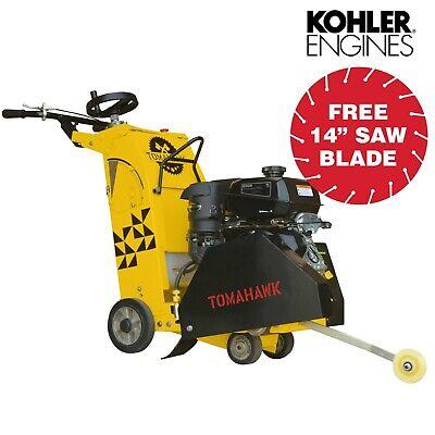 18 14 Hp Kohler Walk Behind Concrete Saw Machine Cement Asphalt Cutter Blade