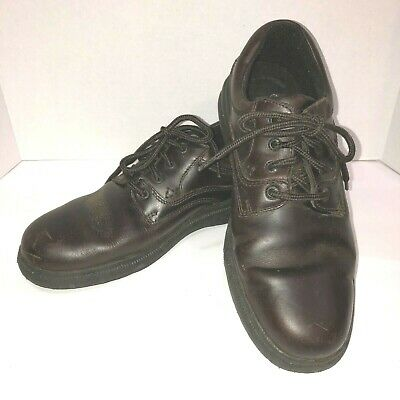 Hush Puppies Zero G Glen Derby-Lace Up Brown Plain Toe Leather Oxford Mens 10.5 Puppies Plain Leather