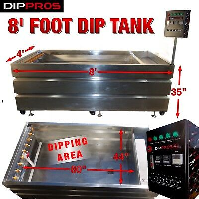 8 Foot Stainless Hydrographic Water Transfer Dip Tank Hydro Dipping U.s. Seller