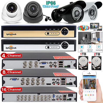 4/8/16CH CCTV DVR 2.4MP Camera 1080p Night Vision Video Home Security System Kit - Home Security Digital Video Recorder