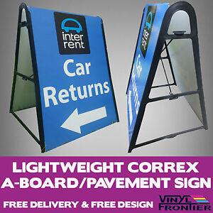 Lightweight Correx A-Board/ Pavement Advertising Sign inc. Graphics & Design