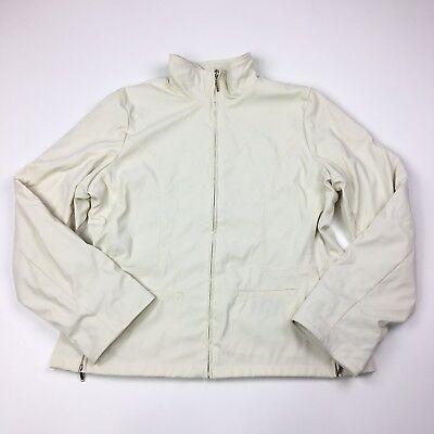 Weather Tamer Zip Front Jacket (Weather Tamer Womens Zip Front Reversible Cozy Coat Jacket Solid Ivory Size XL )