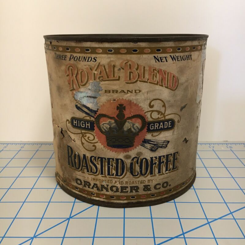 Vintage Royal Blend High Grade Roasted Coffee Granger & Co. Metal Coffee Tin
