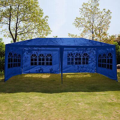 Gazebo 3x6m Waterproof Marquee Heavy Duty Canopy Outdoor Garden Party Tent Blue