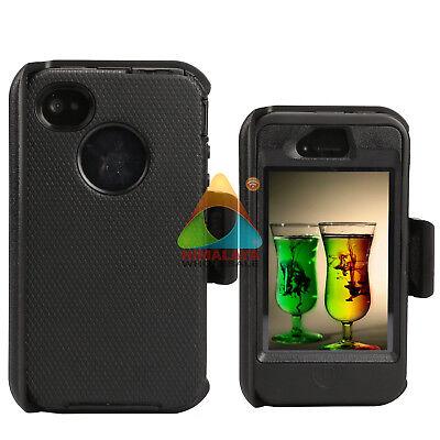 For Apple iPhone 4 4S Case (Clip fits Otterbox Defender) Holster Shockproof Skin