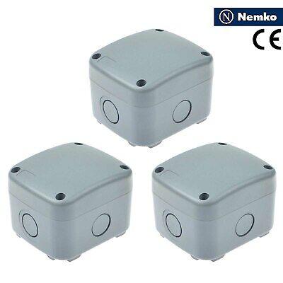 3 Pack Ip66 Waterproof Junction Box Waterproof Case 867462mm Weatherproof New