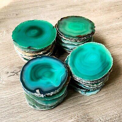 Wedding Favor Coasters (Green Agate Coasters 2.75