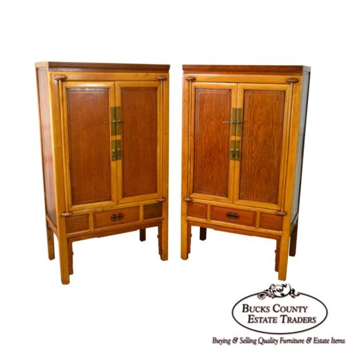 Antique Fine Quality Asian Chinese Hardwood Pair of Ming Cabinets