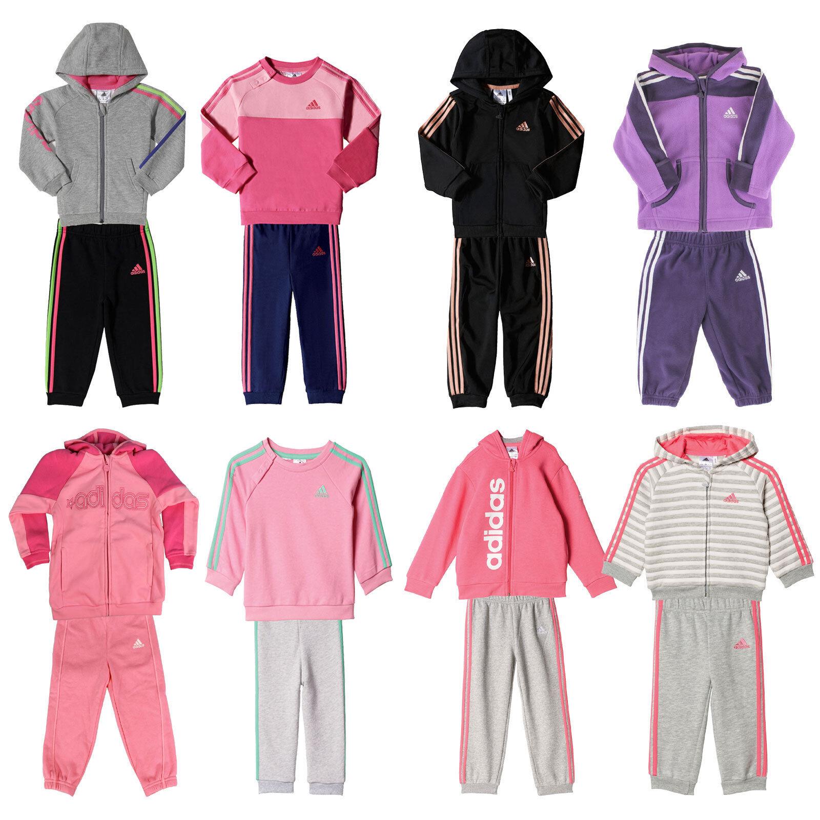 adidas Performance Baby-Jogger Kinder-Jogginganzug Mädchen-Trainingsanzug Set