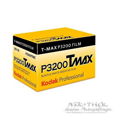 Kodak Tmax 3200 P3200 ~ 35mm B&W Film ~ 36 Exp ~ Freshest UK Stock ~ NEW!!