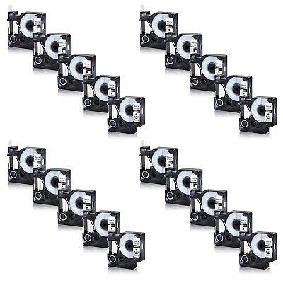 20x 45013 Black On White Label Tape For Dymo D1 210d 350 420p S0720530 12mm 12