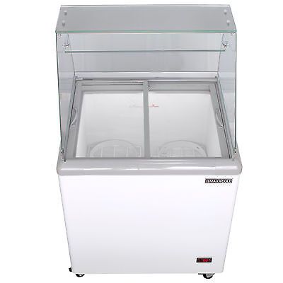 Maxx Cold 4 Flavor 7.5 Cu Ft Commercial Ice Cream Dipping Cabinet Freezer Mxdc-4
