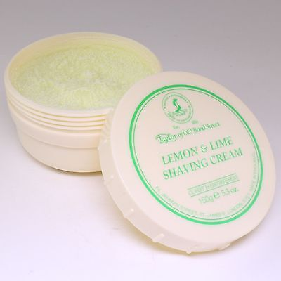 Lemon Lime Shaving Cream (Lemon & Lime Luxury Shaving Cream 150g, Taylor of Old Bond St)