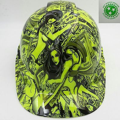 Hard Hat Custom Hydro Dipped Osha Approved Hustler Girls Lime Green