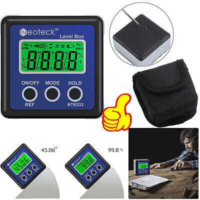 0360 Digital Protractor Gauge Level Box Angle Finder Inclinometer Magnet Meter