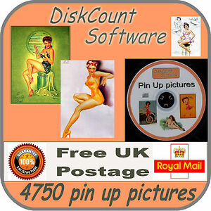 4750 pin up pictures, decoupage, clip art - CD