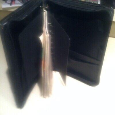 Franklin Planner Classic 1.75 Rings 7 Black Leather Binder Organizer 8x11 Zip