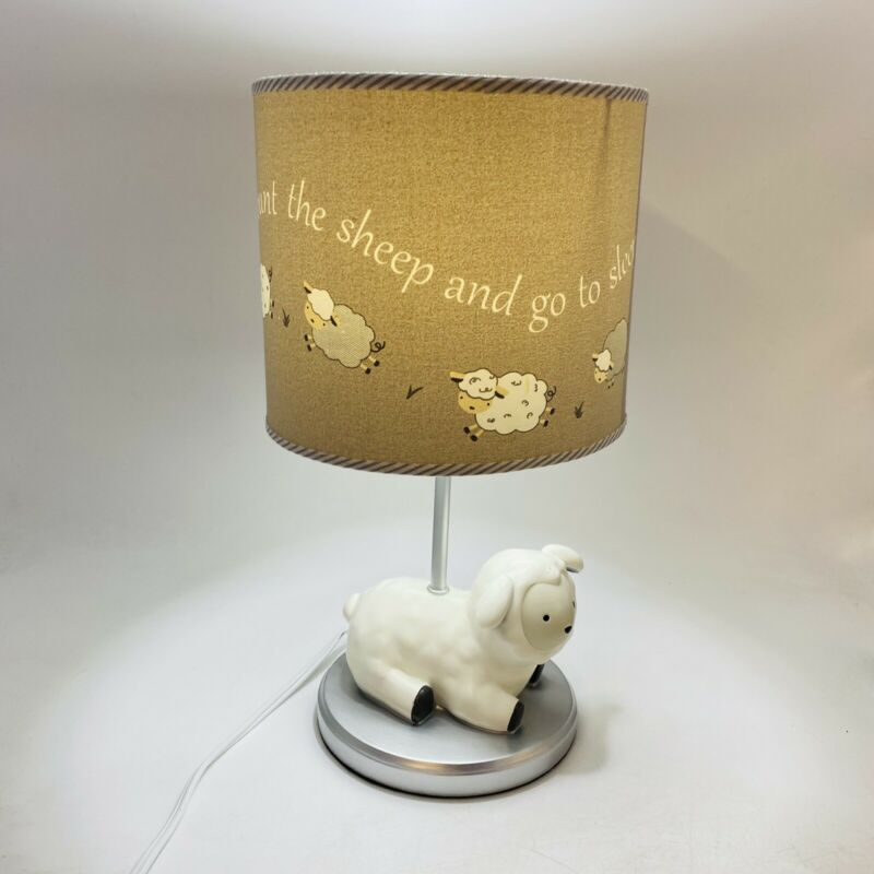 Lambs and Ivy Signature Nursery Lamp ~ Count the Sheep And Go To Sleep Theme