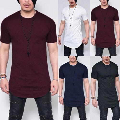 Classics Herren T-Shirt Extra Lang Long Shirts Tee Oversize Slim Top Bluse Hemd