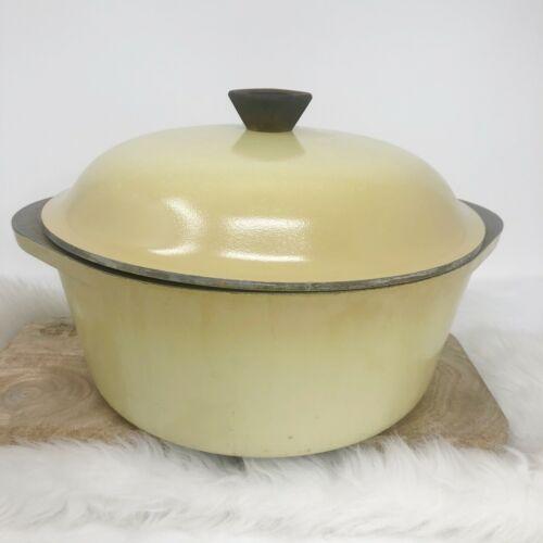 Vtg CLUB Harvest Yellow Gold Aluminum Cookware 4-Quart  Dutch Oven Roast