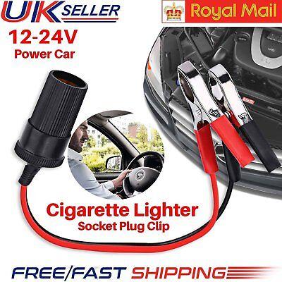 Portable Car Cigarette Lighter Female Socket Adapter Plug 12V Connector Cable UK