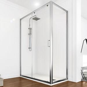 Box doccia 90 x 100 cm anta scorrevole in cristallo - Altezza box doccia ...