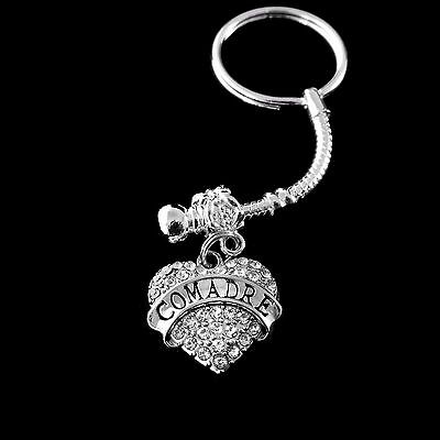 Comadre key chain  Comadre jewelry Comadre gift Best jewelry gift (Best Grandma Key Chains)