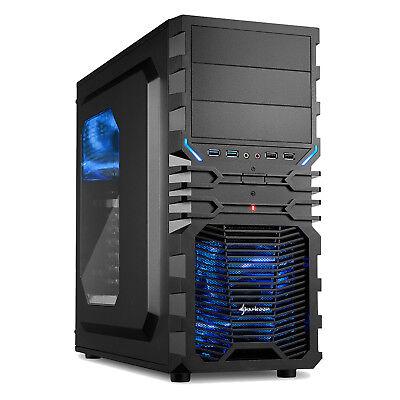 Sharkoon VG4-W, blau, PC Gehäuse, Midi Gaming Tower